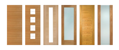 Oak Contemporary Doors Unfinished