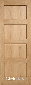 Oak Shaker 4 Panel - Online Only - Unfin...