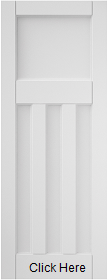 3 Panel White Primed - Solid Core - JW