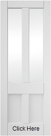 White Primed 4 Panel Interior Door with ...
