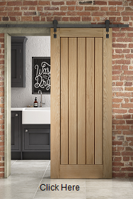 Oak Cottage Sliding Barn Door - JW