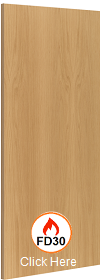 Flush Oak Firedoor - FD30 - 44mm - Prefi...