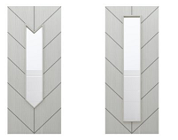 Glazed Grey Chevron Doors