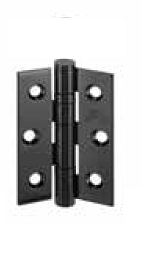 Black Manhattan 3 inch Butt Hinges 3 Per...