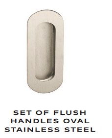 Flush Oval Stainless Steel Handles - WK