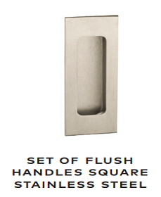 Flush Square Stainless Steel Handles - WK