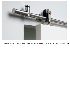 Stainless Steel or Black ON WALL Single Sliding Hardware 2m Single Door - WK