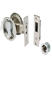 Aries Pocket Door Lock - Polished Chrome...