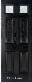 Black Colonial GRP Door with Zinc Double...