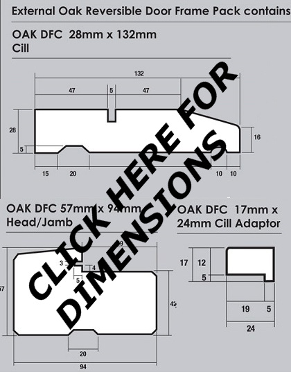 Universal frame dimensions