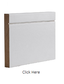 White Primed Shaker Skirting Pack - DE