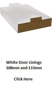 White Primed Door Lining - Removable Stop - DE