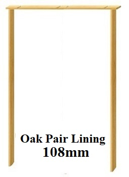 Oak Door Pair Lining 108mm  - Prefinishe...
