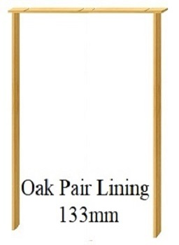 Oak Door Pair Lining - 133mm - Unfinished - XL