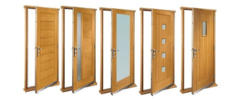 Oak Timber Doorsets (Includes Frame) Sc 1 St Doors And Floors Galore  sc 1 st  pezcame.com & Door Sets External \u0026 Derby Exterior Oak Door And Frame Set With Two ...