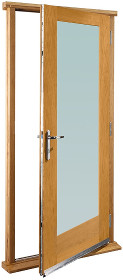 Oak Pattern 10 Doorset with Clear Glass ...