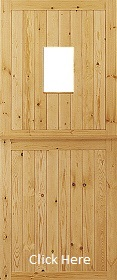 Redwood Stable Door - Unglazed - JW