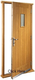 Oak Chancery Doorset with Decorative Gla...