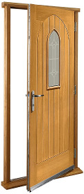 Oak Westminster Doorset with Decorative ...