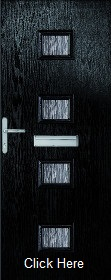 Black Siena Composite Doorset with Obscu...