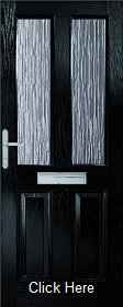 Black Malton Composite Doorset with Obsc...