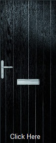 Black Suffolk Composite Doorset - Includ...