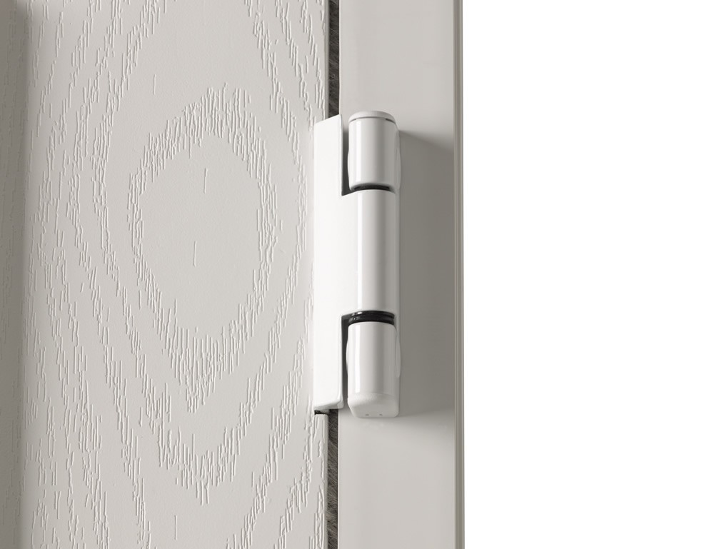 White Door Hinge