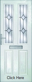 White Malton with Decorative Glass - XL