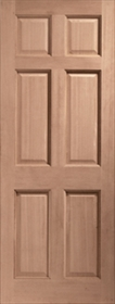 Hardwood Colonial 6 Panel - Dowelled - X