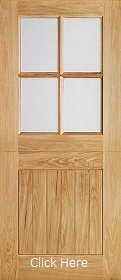 Oak Cottage Stable 4L - Clear Double Glazed - LP