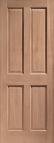 Hardwood London 4 Panel - Dowelled - X