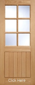 Oak Cottage 6L - Full Door - Clear Glass - LP