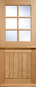 Cottage Stable 6L Oak with Double Glazed...