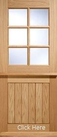 Oak Cottage Stable 6L with Double Glazed Clear Glass - LP