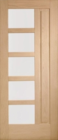 Oak Lucca - Obscure Glass - Double Glazed - M&T - Unfinished -X
