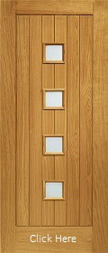 Oak Siena Door with Obscure Glass - Pre ...