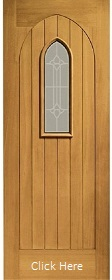 Oak Westminster Door with Double Glazed ...
