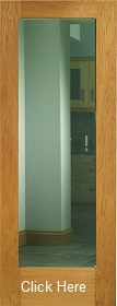 Oak Pattern 10 - Clear Double Glazed Gla...