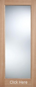Oak Pattern 10 - Clear Double Glazed -  Warmer Doors Part L Compliant  - LPD