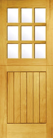 Redwood 9L Stable Door - Obscure Glass -...