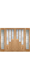 Coventry Oak Pair with sidelights LPD