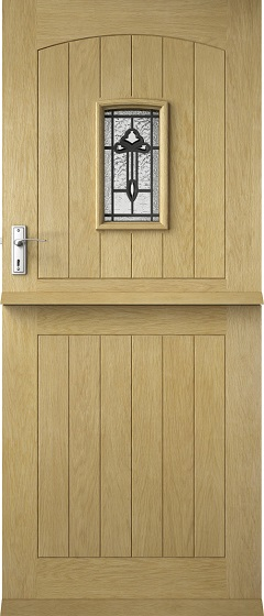 Oak Croft Solid Stable Triple Glazed With Decorative Glass