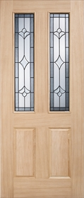Oak Salisbury - Part Obscure Double Glazed - Part L Compliant - LP