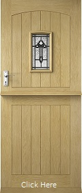 Oak Croft Solid Stable Triple Glazed wit...