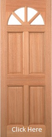 Hardwood Carolina 4 Panel Glazed - LPD