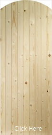 Pine Ledged and Braced Arched Top Gate -...