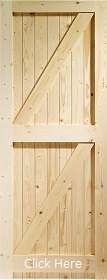 Pine Framed Ledged and Braced Gate - X
