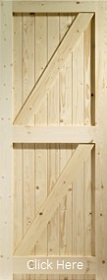 Pine Framed Ledged and Braced Gate or Sh...