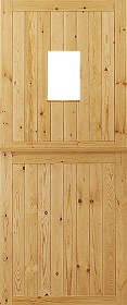 Redwood Stable Door with Obscure Glass -...