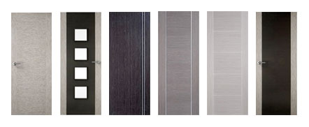 44mm & 54mm Abachi, Grey, Ash, and Black Fire Doors